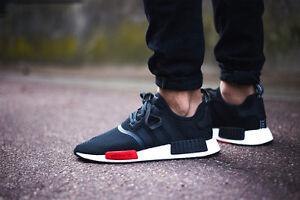 adidas nmd black red
