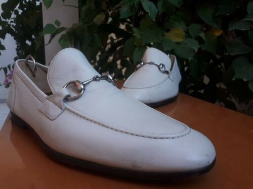 Gucci Jordaan 281936 Men's White Leather Silver Ho