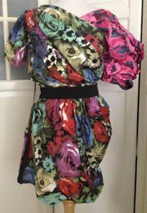 etichetta For con Lanvin m Dress 40 Nuovo Flowers H Colorful Floral Dress FfqaHqw