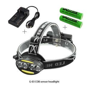30000LM USB LED Headlamp Headlight T6+2*COB+2*Red LED Head Lamp Torch Light