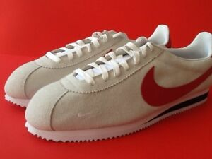 huge selection of 0feab babc1 Details about Nike Classic Cortez Premium ID 898727 983 Suede Bone White  Red Blue Size 15 Men
