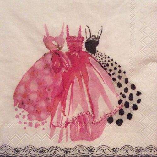 paper napkins decoupage x 2 pretty in pink 25cm