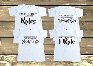 864c27e29 I Make The Rules Set T shirts,Sibling,Matching Brothers Sisters Outfits ...