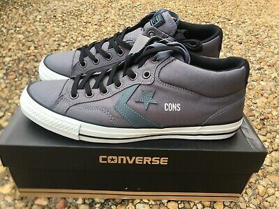 NEW Converse Cons Star Player Pro Mid Men's 12 Admiral Gray Canvas Skate 144611C | eBay