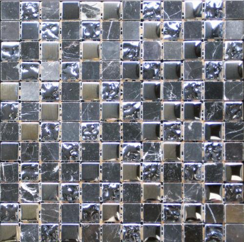 Black Marble /& Bubble Gloss Mosaic 305x305x8mm sold per sheet