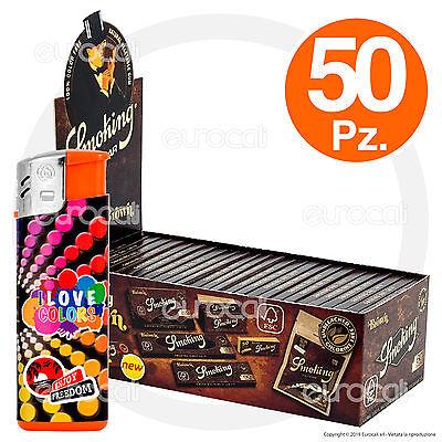 3000 Cartine SMOKING BROWN senza cloro 1 BOX 1500 filtri RIZLA SLIM 6mm 1 BOX