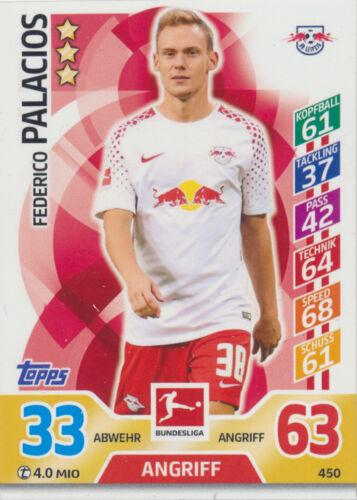 Match Attax Extra 17 18-450 Federico Palacios