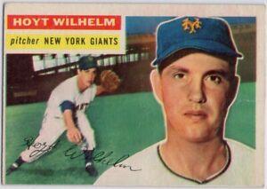 1956-Topps-307-Hoyt-Wilhelm-GOOD-WRINKLES-New-York-Giants-FREE-SHIPPING