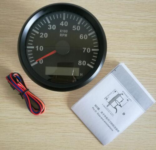 6 Gauge Set Speedo 200MPH 300KPH ODO Tacho Fuel Volts Oil Pressure Temp US STOCK