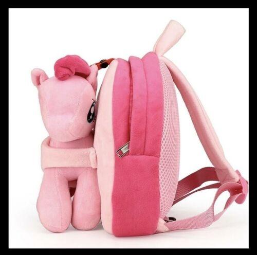 Mochila de dibujos animados 3D Pony para niñaKids School Bag niño felpa bebé Ani