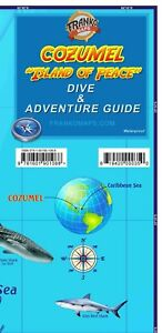 Cozumel Mexico Dive Snorkel Adventure Guide Map By Franko Maps Ebay