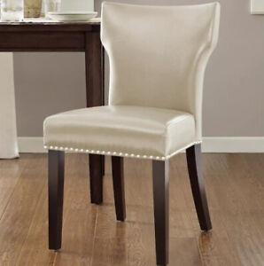Madison Park Emilia Dining Chair (Bone) Nailhead | eBay