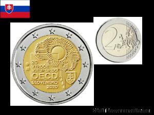 2-Euros-Commemorative-Slovaquie-2020-20-Ans-OCDE-UNC