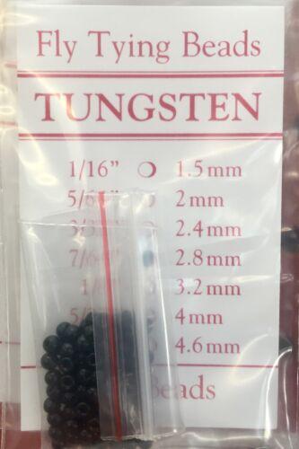 Tungstène Perles 100 ct Noir Toutes Tailles 1//16 à 3//16 livraison gratuite