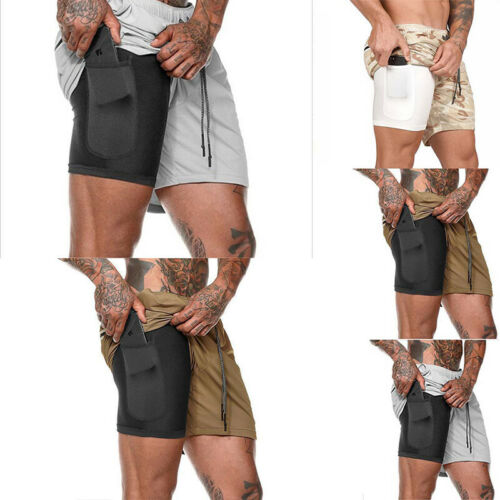 Pants New Workout Bodybuilding Summer Fitness GYM Shorts Sports Training Men/'s