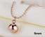 New-18K-Rose-Gold-Filled-Women-Round-Ball-Beads-pendant-Charm-Necklace-12mm-6mm thumbnail 10