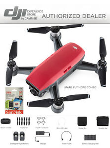 DJI-Spark-Fly-More-Combo-enhanced-bundle-Drone-RED-includes-64GB-memory-Card