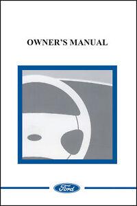 ford  ranger owner manual portfolio kit   ebay