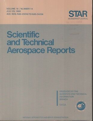 Creative Nasa Star Volume 18 #14 July 23 1980 Abstract Journal Ex-faa 121918ame2 Consumers First Historical Memorabilia