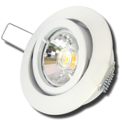 5er Set Einbau Strahler Leuchte TIMO 230V LED WARMWEISS 5W GU10 Reflektorspots