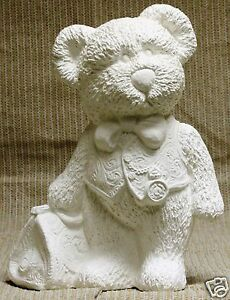 Ceramic-Bisque-Knappy-Bear-with-Vest-Gare-Mold-3332-U-Paint-Ready-To-Paint