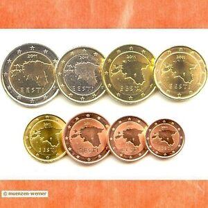 Kursmünzensatz Estland 2011 1c 2 Euromünzekms Alle 8 Münzen Satz