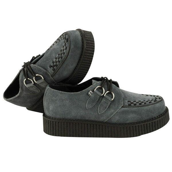 T.U.K. A8353 Tuk shoes Creeper Mondo Lo Sole Creepers Grey Suede Bredhel shoes