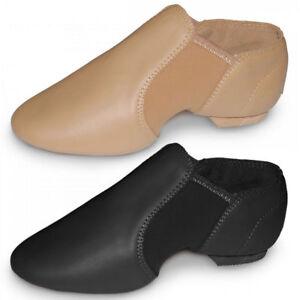 Roch Valley split sole neoprene slip on jazz  dance shoes