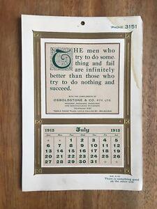 ANTIQUE-JULY-1913-CALENDAR-BY-OSBOLDSTONE-amp-CO-MELBOURNE-PRINTER-ART-NOUVEAU