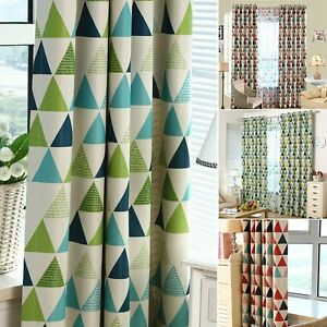 1PC Blackout Curtains Triangle Printed Home Bedroom Modern Window ...