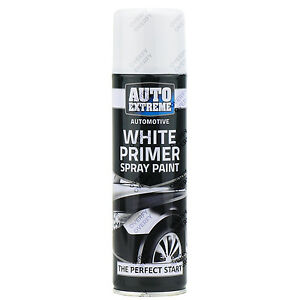 5 X 250ml White Primer Matt Spray Paint Aerosol Can Auto Extreme Metal Wood Ebay