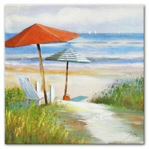 Gemaelde-Olbild-Bild-Olbilder-Rahmen-Bilder-Strand-Sand-Meer-Olgemaelde-06278