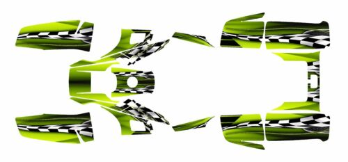 Yamaha Warrior 350 Graphics Deco kit Free Custom Service #2500-Manta Green
