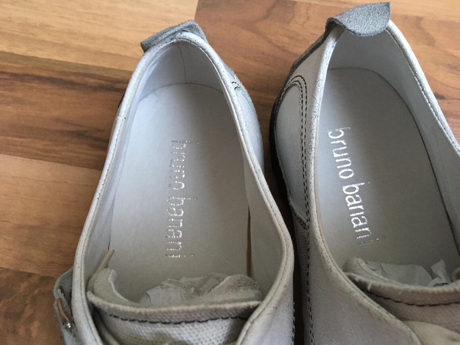 bruno banani Herren Leder EU Sneaker Usedlook Weiß/Grau Größe EU Leder 42 cff587