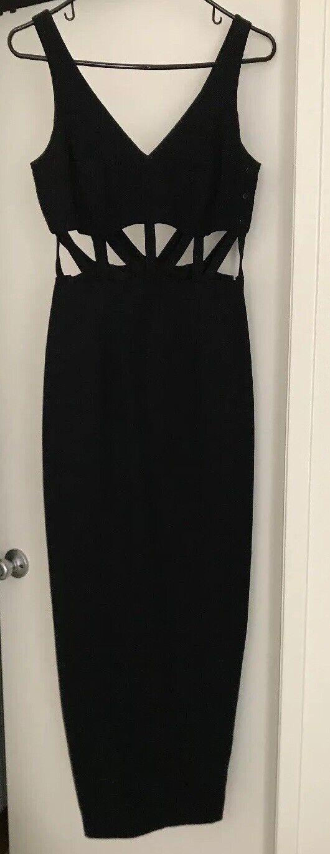 Negro Formal Noche Cóctel Vestido sin mangas con recortes  XS S  1250 usado una vez  grandes precios de descuento