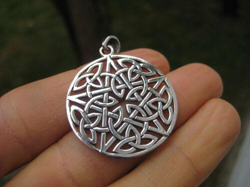 925 Silver Star Celtic Knot Star Pegan Wicca Pentacle Pentagram Magic A14