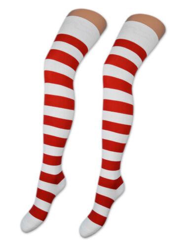2 Paia Calze sopra il ginocchio Calze Cotone parigine in molti Colori /& Modelli