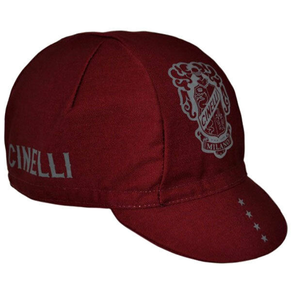 Cinelli Escudo Gorra red - Hecho en Italia