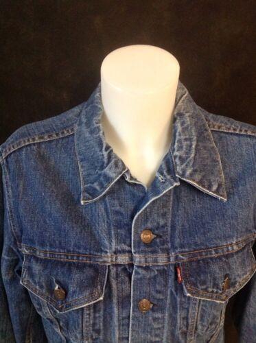 VINTAGE LEVIS JEAN Jacket Denim TRUCKER Made In U… - image 1