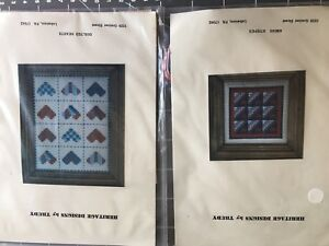 2-Coordinating-Quilt-Designs-Counted-Cross-Stitch-Kits-Heritage-Designs-by-Trudy
