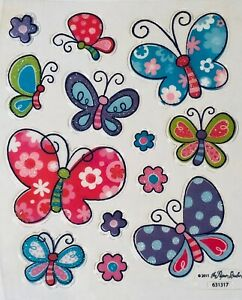 Colored Butterfly Glittered Scrapbook Stickers   eBay