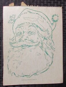 1952 Package Masters Santa Claus 8x10 Cardboard Head Mask Vg