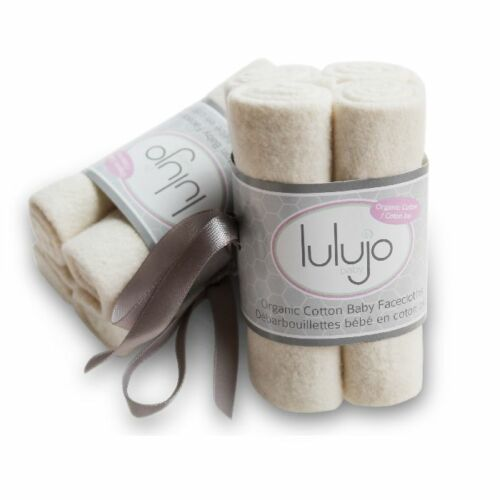 Organic Cotton Facecloths 4 pack-Lulujo