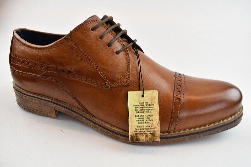 Bugatti Herren Business-Schuhe Leder Cognac in der Gr. 42