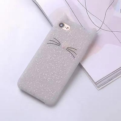2D Cute Bearded Cat Cartoon Soft Silicon Case Cover Back For For Various Phones