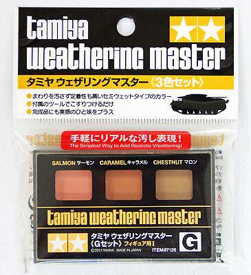 Tamiya 87126 Weathering Master G set for Figures I (Salmon, Caramel, Chestnut)