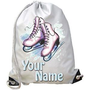 Personalised Ice Skating Skater Drawstring PE Bag
