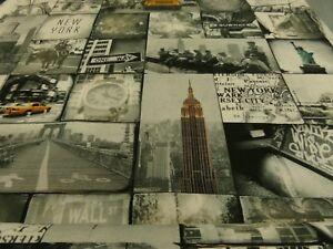 Tela-De-Tapiceria-Tela-Decorativa-Motivo-New-York-140cm-de-Ancho-Algodon