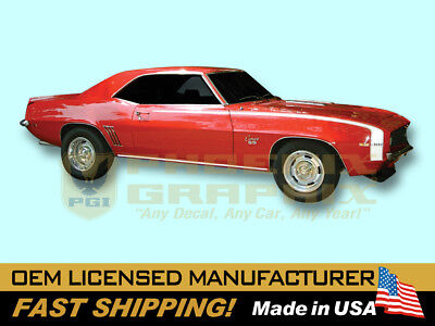 1969 Camaro RS Rally Sport SS Super Sport VINYL Decals Racing Stripes Kit