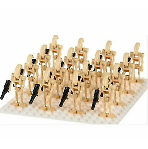 16X LEGO COMPATIBLE STAR WARS BATTLE DROID MINI FIGURES ARMY NEW